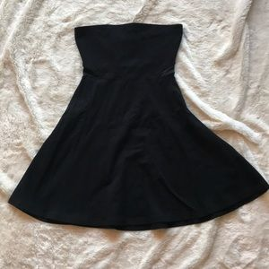 Black Express strapless dress XS